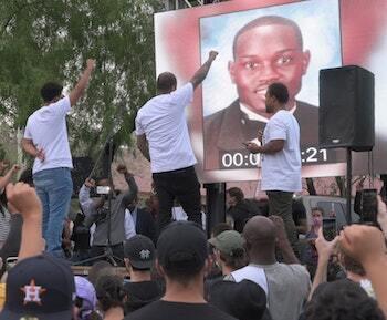 Ahmaud Arbery BLM protest